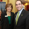 Louise Trottier, left, and EJ Kritz, of TD Bank at the North Shore Chamber Business Expo held at the Sheraton Ferncroft. David Le/Staff Photo