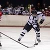 Peabody's Derek Demild rips a backhanded shot on net against Saugus. David Le/Salem News