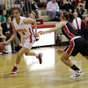 Topsfield: Masco's Chelsea Nason drives right past a North Andover defender on Tuesday night. David Le/Salem News