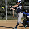 Swampscott Designated Player Tessa Beane lines a basehit against Danvers on Friday afternoon. David Le/Staff Photo