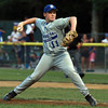 Danvers American starting pitcher Shane Smith fires a strike against Gloucester American on Friday evening. David Le/Staff Photo