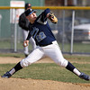 Peabody starting pitcher Pat Ruotolo fires a strike against Beverly on Wednesday. David Le/Staff Photo
