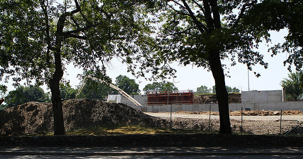Marblehead: Construction workers have been working diligently throughout the late winter and into the summer to lay the foundation for the new Tedesco Country Club after knocking the old one down. Photo by David Le/Salem News