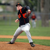 Beverly starting pitcher Alex Toomey fires a strike against Danvers on Thursday afternoon. David Le/Staff Photo