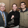 From left, Donald Kelley, and Chrissy Kulakowski, of Wayside Trailers, and Jonathan Tapper of Home Decor Group at the North Shore Chamber Business Expo held at the Sheraton Ferncroft. David Le/Staff Photo
