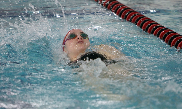 Toireasa Rafferty-Millett competes in the backstroke lap of the 200 IM. David Le/Salem News