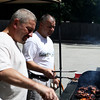 Middleton: Ray Abbott, left, of Middleton, and Richard Bienvenue, of Lowell grill some chicken at the American Legion Post 227 in Middleton on Saturday afternoon. These gentlemen volunteered to help host veterans from the Chelsea Soldiers Home and hold an afternoon long lunch for them. Photo by David Le/Salem News