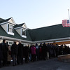 Peabody: Hundreds of people waited in line outside the Conway Cahill-Brodeur Funeral Home on Thursday afternoon as they waited to pay their respects to fallen Peabody firefighter Jim Rice. David Le/Salem News