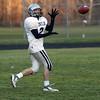 Hamilton-Wenham wide receiver Matt Putur hauls in a reception at practice on Thursday afternoon. David Le/Salem News