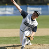 Hamilton-Wenham starting pitcher Ryan Foringer delivers a strike against North Reading on Tuesday afternoon. David Le/Staff Photo
