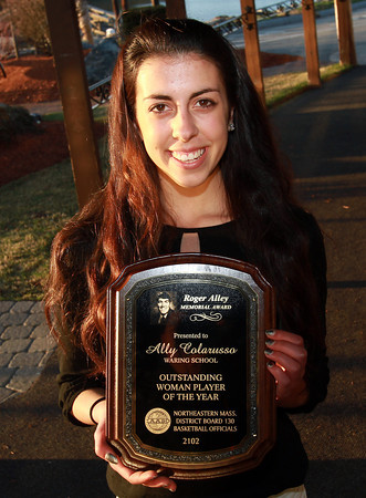 Ally Colarusso, from The Waring School, won the Roger Alley Outstanding Woman Player of the Year Award. David Le/Staff Photo