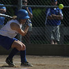 Danvers: Danvers High School second baseman, Chrissy Gilkas, ducks out of the way of a high and tight fastball from the Saugus starting pitcher. The Falcons won their Division II North state tournament game 8-0, held Friday afternoon in Danvers. Photo by David Le/Salem News