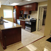A communal kitchen area in the Waldfogel Health Center. David Le/Staff Photo