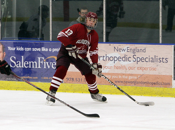 Gloucester's Alex Webb looks to shoot on goal against Salem on Wednesday afternoon. David Le/Gloucester Daily Times