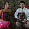 Peabody: Moynihan Lumber Student-Athletes of the year, Monica Adler of Beverly, and Chris Splinter of Masconomet, receive their awards at a banquet held at the Salem Country Club in Peabody on Tuesday. Photo by David Le/Salem News