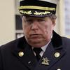 Peabody: Massachusetts State Fire Marshal Stephen Coan talks about the loss of Peabody firefighter Jim Rice on Thursday. David Le/Salem News