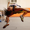 Beverly's Liane Patrazza leaps high over the bar to clear a height during the high jump. David Le/Salem News