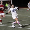 Peabody's Victoria Digiacomo beats a defender down the sideline and heads towards net. David Le/Salem News