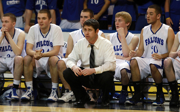 Danvers Head Coach John Walsh led the Falcons to their first ever State Title. David Le/Staff Photo