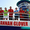 Will Cole, Owner of the Hannah Glover, left, and Mahi Mahi Cruises launched their new boat on Thursday evening from Pickering Wharf in Salem. David Le/Staff Photo
