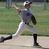 Middleton: Middleton Little League shortstop Elias Varinos throws to first during infield practice on Wednesday afternoon. The Middleton LL team is geared up and ready to go in their first game on Saturday in hopes of making it all the way to Williamsport. Photo by David Le/Salem News