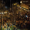View of the square below from Rockafellas on Halloween Night., David Le/Staff Photo.