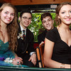 Salem High School prom goers from left, Lucy Coppola, Matt Del Campo, Nate Dragon, and Catherine Majeski, wait on the Salem Trolley to be taken to the Salem Waterfront Hotel. David Le/Staff Photo