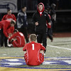 Masco sophomore Adam Grammer (1) just sits on the field after the Chieftans lost 2-1 to Ludlow in the Division I State Final on FridayDavid Le/Salem News