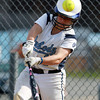 Peabody shortstop Katie Brunelle fouls a ball away against Beverly on Friday afternoon at Innocenti Park. David Le/Staff Photo
