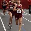 Gloucester's Elle Wierbicky (147) right, and Tess Benson (121) compete in the 600 on Wednesday night. David Le/Salem News