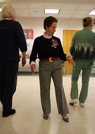 Lucy Rascon, of Lawrence, practices a new line dance at the Danvers Senior Center on Wednesday afternoon. David Le/Salem News