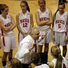 Topsfield: Masco head coach Bob Romeo talks to his team during a timeout on Tuesday night. David Le/Salem News