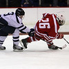 Peabody's Reed Foster pressures Saugus' Joe Russo on Wednesday night. <br /> David Le/Salem News