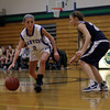 Beverly: Danvers' Delaney Zecha drives against the Winthrop defense on Thursday night. David Le/Salem News