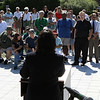Salem: Kimberly Driscoll, Mayor of Salem speaks to a very large crowd at the opening ceremony for the Harborwalk in downtown Salem on Thursday afternoon. The Harborwalk runs along the South River basin from Congress Street to Layfayette Street. Photo by David Le/Salem News