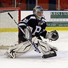 Peabody goalie Joe Powers keeps his eye on the puck on Wednesday afternoon. David Le/Salem News