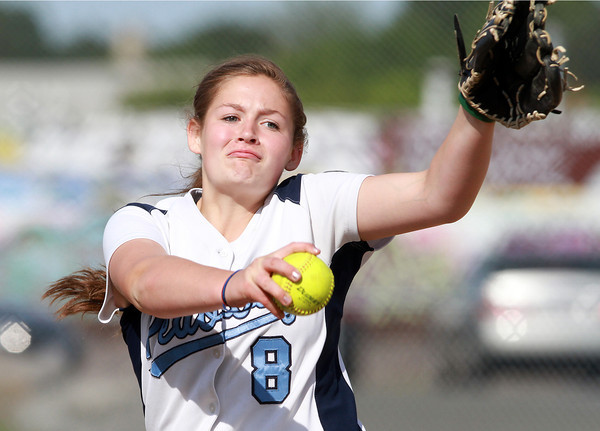 Peabody starting pitcher Shelby Wilson fires a strike against Beverly on Friday afternoon. David Le/Staff Photo