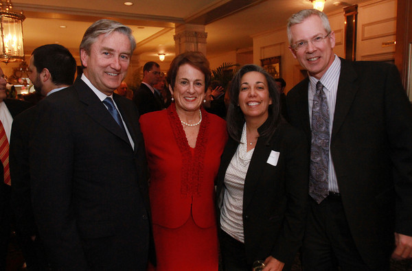 From left, Congressman John Tierney, Patrice Tierney, Patricia George, and David King, at the 25th Annual Meeting of the Salem Partnership on Tuesday night at the Hawthorne Hotel. David Le/Staff Photo