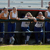 The Danvers High School softball players can only watch as Dracut celebrates their 6-1 victory in the D2 North Semi-Final. David Le/Staff Photo