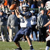 Swampscott quarterback Mike Walsh drops back to pass against Beverly on Saturday afternoon. Swampscott won 21-13 to improve to 8-1 while Beverly fell to 7-3. David Le/Salem News