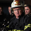 Peabody: Peabody Fire Chief Steven Padson talks about the 3-alarm fire at 5 Hancock St. which fatally injured a veteran Peabody firefighter, Jim Rice. David Le/Salem News
