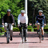 From left, Todd Balf, Neil Stanton, and Paul Boudreau, all of Beverly, are members of the Bicycle Beverly Committee, and have been working to set up the Mayor's Ride. David Le/Staff Photo