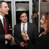 State Representative Jerry Parisella, left, chats with Thomas and Beth Taranto, of Salem at the North Shore Music Theater on Tuesday night. David Le/Salem News