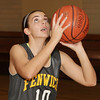 Peabody: Bishop Fenwick's Jenny Nasser lines up a shot at practice on Wednesday night. David Le/Salem News