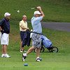 Alan Shah, right, tees off during Beverly Golf and Tennis Club's Championship on Saturday afternoon. David Le/Staff Photo