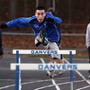 Danvers High School senior Craig Wilson practices the high hurdles on Thursday afternoon. David Le/Salem News