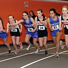 Beverly: Beverly and Danvers runners battle for position at the start of the 1000m run on Thursday, David Le/Salem News