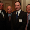 Salem City Councilors from left, Mike Sosnowski, Joseph O'Keefe, Jerry Ryan, and Paul Prevey, at the 25th Annual Meeting of the Salem Partnership at The Hawthorne Hotel on Tuesday evening.David Le/Staff Photo