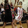 Topsfield: Masco senior Brooke Stewart goes up strong against North Andover on Tuesday night. David Le/Salem News