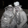 Maria and Michael Catrama, from Staten Island, NY, dressed as a ghostly bride and groom. David Le/Staff Photo.